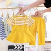 女童夏裝套裝2020新款兩件套1-3歲兒童夏季洋氣2小童小孩女寶寶潮