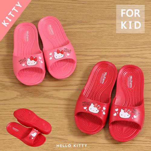 女童 Hello Kitty 顆粒止滑 防水防滑 浴室拖鞋 室內拖鞋 平底拖鞋 59鞋廊