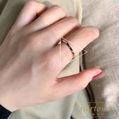 戒指女氣質簡約百搭時尚不規則鈦鋼食指戒【繁星小鎮】