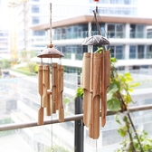 竹制中式竹筒掛飾風鈴 創意手工多竹管風鈴 茶室配件 酒店裝飾