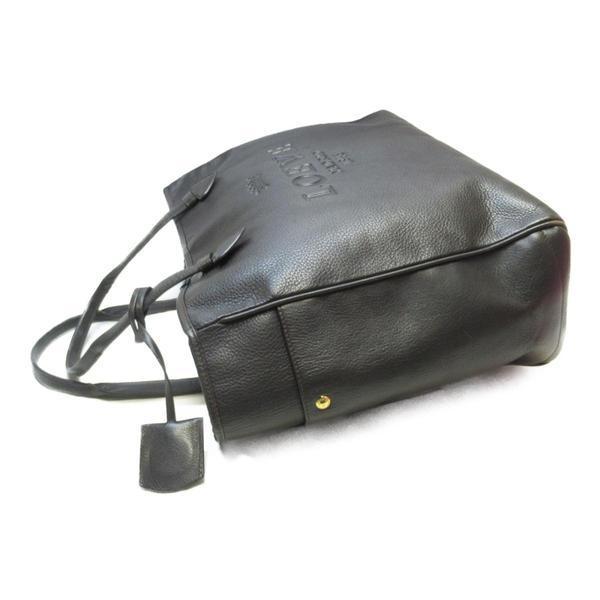 LOEWE 羅威 棕色牛皮肩背包 Heritage Tote Handbag【二手名牌 BRAND OFF】