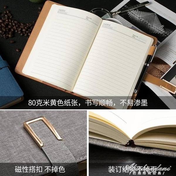 定制筆記本子加厚a5商務辦公記事本簡約大學生日記本b5印LOGO 黛尼時尚精品