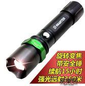 戶外led強光手電筒可充電變焦