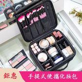 專業化妝包簡約美妝箱小號手提包便攜美甲紋繡半永久紋眉工具收納箱 萬聖節