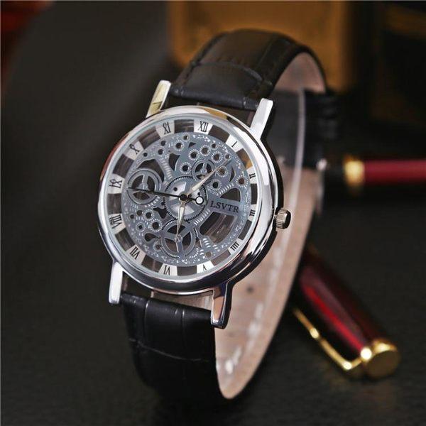 時尚潮流鏤空手錶非機械錶男士防水夜光學生女錶石英錶男錶情侶錶【滿699元88折】