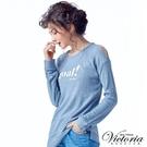 Victoria 挖肩設計寬鬆長版長袖T-女