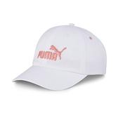 Puma 白粉色 帽子 運動帽 老帽 遮陽帽 六分割帽 經典棒球帽 運動帽 02241640