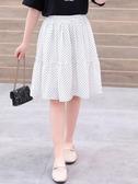 女童短裙 女童半身裙2020新款夏季兒童百搭洋氣夏裝波點裙子中大童夏天短裙 源治良品
