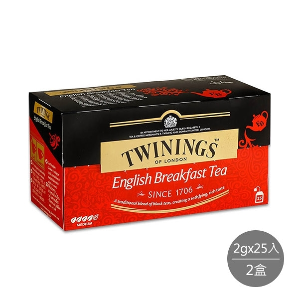 唐寧茶 英倫早餐茶(2gx25入)x2盒
