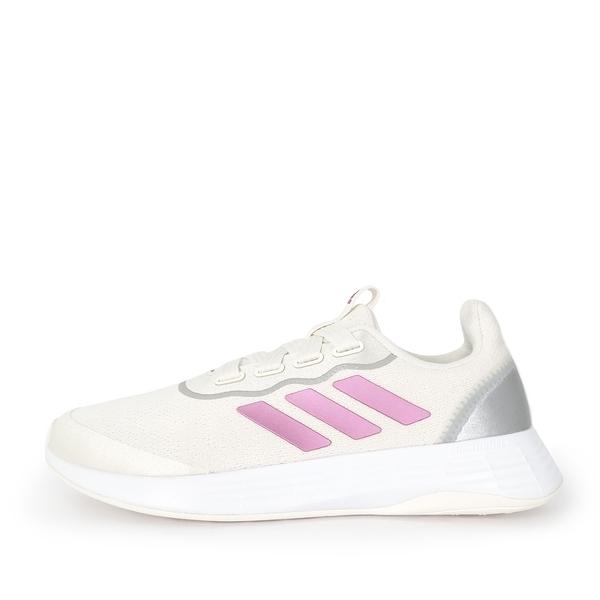 Adidas Qt Racer Sport [FY5679] 女鞋 運動 休閒 慢跑 輕量 避震 透氣 訓練 舒適 米