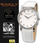 【完全計時】手錶館│BAKLY 時尚簡約腕錶 BAS6201-3閃耀晶鑽 瑞士機芯藍寶石水晶鏡面