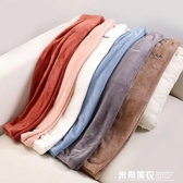 加厚大碼仙女暖暖褲珊瑚絨網紅懶人褲寬鬆居家外穿束腳秋冬季睡褲 米希美衣