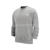 Nike 長袖T恤 NSW Club Crew 灰 白 男款 大學T 運動休閒 【ACS】 BV2667-063 BV2667-063