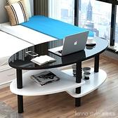 簡約創意北歐現代客廳網紅桌子玻璃茶几小戶型陽台in家用圓形桌 新品全館85折 YTL