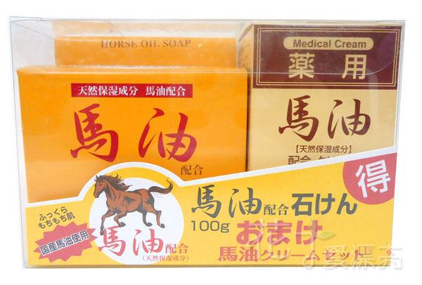 日本 Jun-Cosmetic 馬油乳霜(70g)+乳霜皂(100g)◎花町愛漂亮◎HE