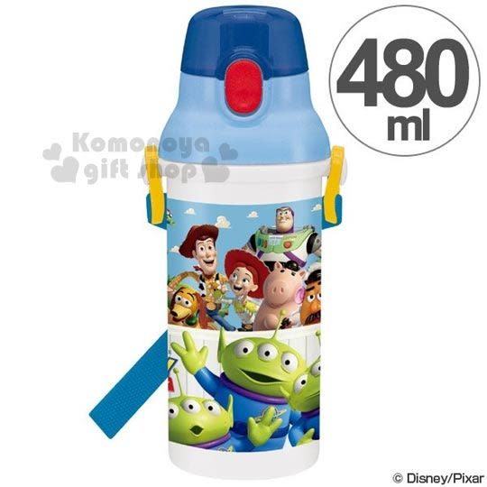 特價399↘〔小禮堂〕迪士尼 玩具總動員 日製直飲式水壺《藍.三眼怪.朋友》480ml  4973307-32317