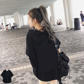 飛鼠衣 短袖帽T【OBIYUAN】 寬鬆涼爽 下擺圓弧 短袖T恤 共10色 情侶款【SP1780】