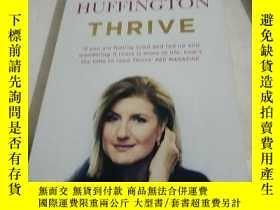 二手書博民逛書店英文原版Thrive:罕見The Third Metric to Redefining SucceY26677