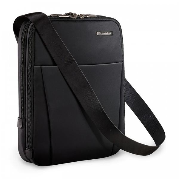 【終身保固 Briggs & Riley 太極陰陽系列 BRS120-4】Sympatico旅行安全側背包(黑)(可放小平版)