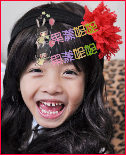 果漾妮妮 美國雪紡彈性帶花款寶寶髮帶/兒童髮帶/彈性髮帶/拍照/寫真/表演/宴客/大人也可