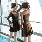 中大尺碼小禮服 金絲絨連身裙秋冬新款女長袖顯瘦A字裙喇叭袖氣質名媛洋裝 DR4560【Rose中大尺碼】