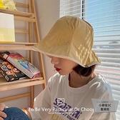 帽子女日系時尚雙面松緊盆帽休閒百搭防曬遮陽漁夫帽【小檸檬3C】