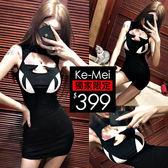 克妹Ke-Mei【AT52166】SYLI小惡魔辛辣風立體耳朵摟空爆乳洋裝