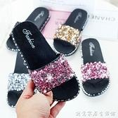 女童拖鞋新款夏季親子兒童拖鞋女孩可愛時尚小公主防滑外穿涼拖鞋