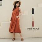 洋裝 Space Picnic|圓領後拉鍊素面無袖洋裝(預購)【C21031020】