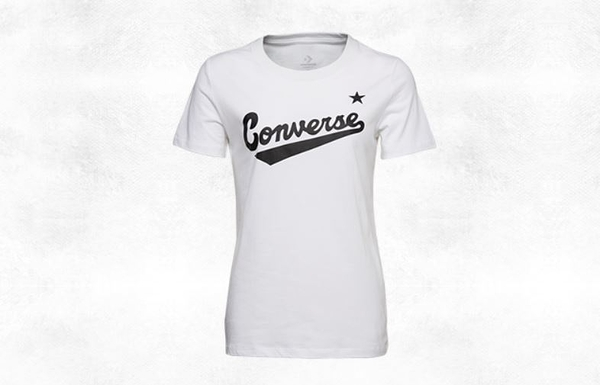 CONVERSE-CENTER FRONT LOGO TEE 女款白色短袖上衣-NO.10018268-A04