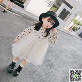 童裝女童秋裝新款3歲韓版洋氣5長袖連衣裙4兒童公主裙子紗裙 歡樂聖誕節