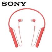 【公司貨-非平輸】SONY 無線藍牙頸掛入耳式耳麥WI-C400-R紅