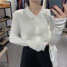 薄款針織上衣六羊毛顯瘦修身長袖上衣韓版開衫【少女顏究院】