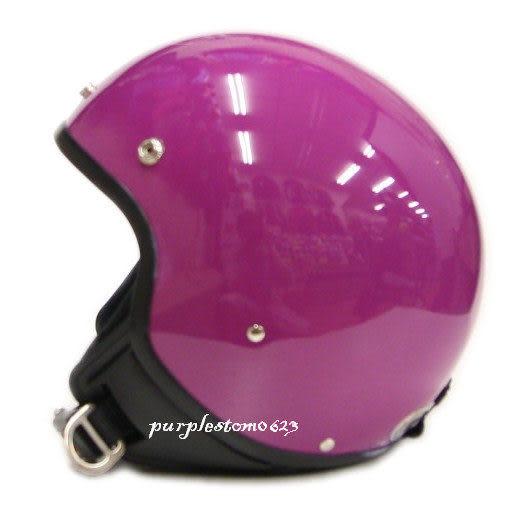 ZEUS 瑞獅安全帽,復古帽,小帽體,MOMO造型,103B,素/紫