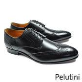 【Pelutini】都會雅仕雕花德比紳士鞋 時尚黑(9125-BL)