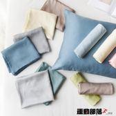枕巾純色天絲混紡單枕頭套40支枕巾簡約記憶枕乳膠枕套 運動部落