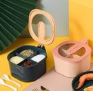 調味料盒 組合套裝四格一體廚房用品鹽罐家用大全多格帶蓋收納調味盒【快速出貨八折搶購】