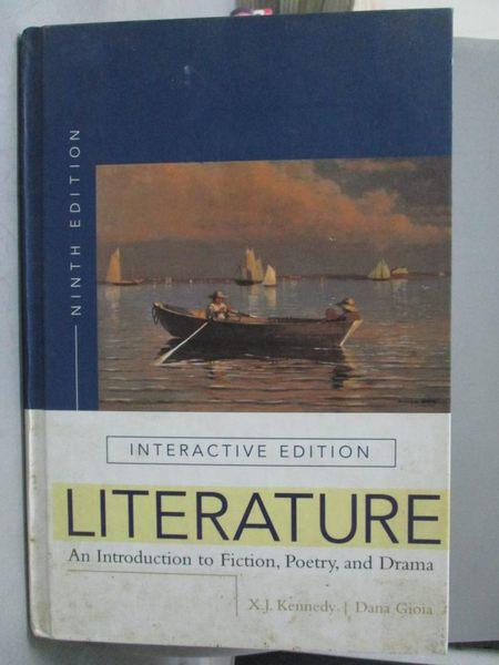 【書寶二手書T4/文學_ZAD】Literature-An Introduction to Fiction…_Kenne