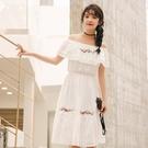 連身裙-一字領民族風繡花荷葉邊優雅女連衣裙73rx50【巴黎精品】