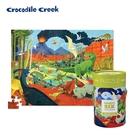 《美國Crocodile Creek》生物主題學習桶裝拼圖-侏儸紀公園(100片)