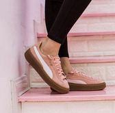 KUMO SHOES-現貨 PUMA SUEDE PLATFORM CORE 厚底鞋 粉色焦糖底 麂皮 363559-10