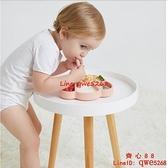 餐盤吸盤式嬰兒童硅膠吸管碗分格盤卡通學吃飯訓練勺餐具套裝【齊心88】