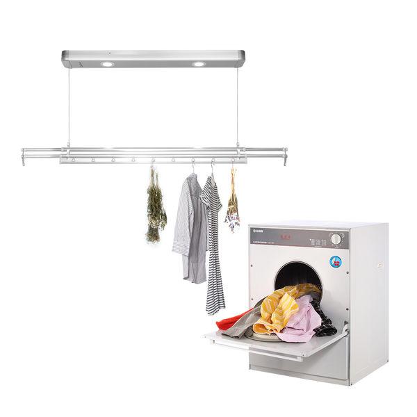台熱牌萬里晴烘曬組-乾衣機+TCM-210BS曬衣機(附基本安裝加贈蝶型曬衣架)