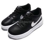 Nike 休閒鞋 Force 1 18 TD 黑 白 Air Force 免綁鞋帶 童鞋 小童鞋【PUMP306】 905220-002