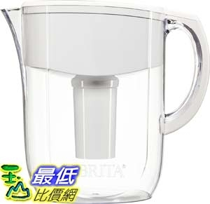 [106美國直購] Brita 新款濾水壺 Brita Large 10 Cup Everyday Water Pitcher with Filter - BPA Free - White