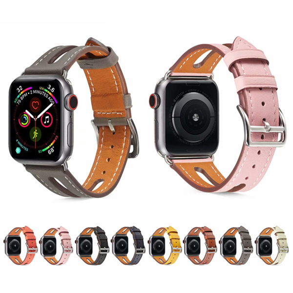 Apple Watch Series 錶帶 S6錶帶 S5錶帶 S4錶帶 S3錶帶 牛皮開窗 蘋果錶帶 38mm 40mm 42mm 44mm