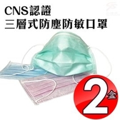 金德恩 台灣製造 2盒抛棄式三層過濾防塵口罩50片/盒/灰塵/粉塵/過敏/髒空氣/CNS認證