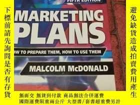 二手書博民逛書店罕見Marketing Plans, Fifth Edition