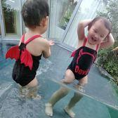 嬰兒泳衣 babys泳裝寶寶可愛天使惡魔翅膀連體游泳衣