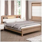 【水晶晶家具/傢俱首選】ZX1133-5金詩涵6尺低甲醇防蛀木芯板加大雙人床架~~床墊另購